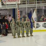 Thanks to the Nat. Guard Color Guard for making it out tonight.