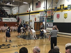 Negaunee Miners Boys Basketball VS Munising Mustangs 03/08/17 on Sunny.FM.