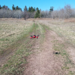 First test flight out in the back field, it was windy so it was a little tricky.