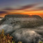 The sun peaking over the hill top in Letchworth State Park in New York - Photo by Danny Morris Photo Design