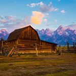 One of the barns in Mormon Row in the Grand Tetons National Park. - Right Start Photography