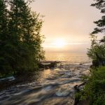 The mouth of the Hurricane River emptying into Lake Superior. Photo by Michael Tokarz Photography
