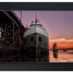 We're giving away this sunset shot of the active Ore Dock in Marquette from Saddleback Photo