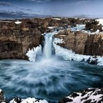 The waterfall Lauren & Todd mention on air: Aldeyjarfoss in Northern Iceland - Saddleback Photography
