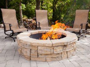 Fraco Inc Marquette Michigan rosetta round fireplace