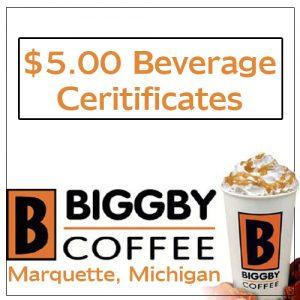 Biggby Coffee Beverage Card