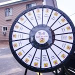 Donate to take a spin on the prize wheel.