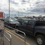 The parking lots were packed at Marquette's Super One Foods today.