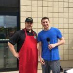 Luke Ghiardi with Pete from Super One Marquette.