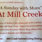 Mill Creek Senior Living Center May 7 2017 A Sunday with Mom - 01