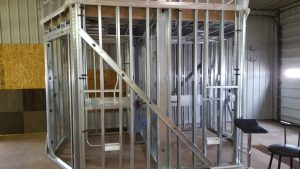 Bathrooms built offsight at KI Sawyer facility