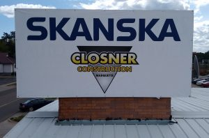 Skanska and Closner Construction overseeing the project