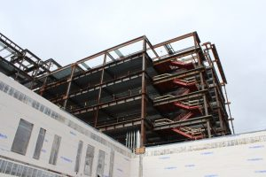 Look at those stairs - the new UPHS will be 8 stories high