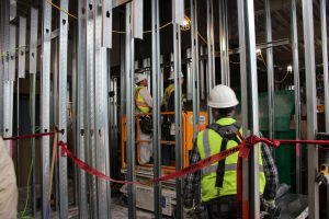 Closner workers on the first floor