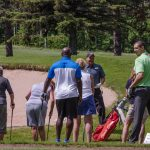 Golfers rotated through the five clinics starting around 10:30 am.