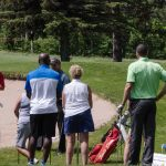 The clinics included mid iron game, driving, trouble shots, and chipping.