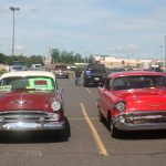 Lots of cars were for sale on the lot.