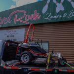 A look at the Altoz lawnmower outside of River Rock Lanes.