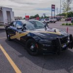 We were joined by the very sleek Michigan State Police 100th Anniversary edition police cruiser.