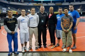 He is myself, my coach, my AD, and my teammates, at the national tournament in Texas.
