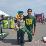 NMU Basketball Team playing with the kids!!