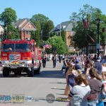 City of Ishpeming Firetruck and team