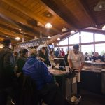 While the course was still, the bar was busy!