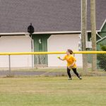 Wynter in the outfield.