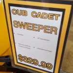 Call Four Seasons at 789-1760 to ask about the sweeper.
