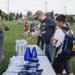Fans enjoyed gift at the tailgate party for the Negaunee Miners.