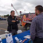 Bruce chatting at the 2017 Prepare Fair