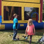 The bounce house was a real hit at the carnival.