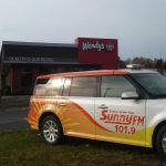 We're live from Wendy's on Sunny.FM 101.9!