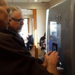 Jerry and Walt checking out the brand new free-style soda machine.