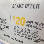 Great tire and brake deals.