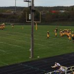 Negaunee Miner Football team warming up for a great game against the Manistique Emeralds on Sunny.FM 10/06/17