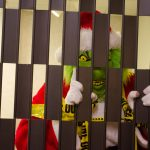 This year the police put the Grinch in jail at the Mall!
