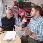 Andy talking to Major Discount at Frei Chevy.