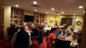 Lots of families enjoying their Thanksgiving meal at Freighter View.