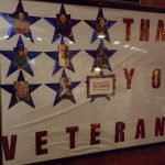 Giving thanks to the resident vets.