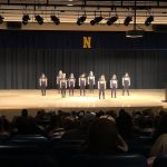 The Negaunee Dance team preformed for the crowd too.