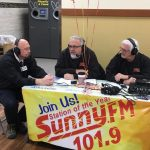 Walt and Mike took the Sunny Morning Show on the road and did the show live from Super One this morning.