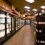 As you enter the store, check out the brand new liquor department.
