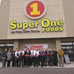The ribbon cutting at Super One Foods for the Grand Re-opening in Marquette.