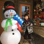 Boy With Snowman