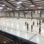 Pre-game skate for the Miners and Flivvers.