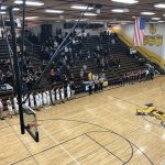 National Anthem. Negaunee Miners Boys basketball VS Menominee Maroons.