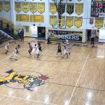Some second quarter action from Negaunee Miners Boys basketball VS Menominee Maroons game.
