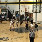 #35 for the Miners at the free-throw line. Miners VS ModelTowners Boys basketball.