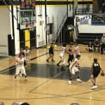 Miners Boys basketball playing great defensively against the Gwinn ModelTowners.